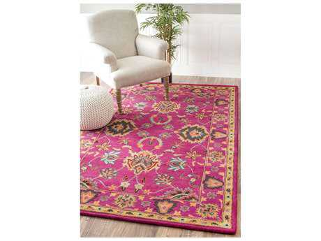 Nuloom Remade Hand Tufted Montesque Pink Area Rug