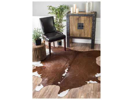 Nuloom Handmade Cowhide Renea Brown 4'6'' x 6' Area Rug