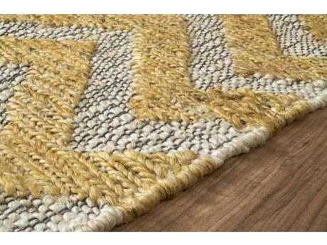 Nuloom Natural Fiber Hand Woven Jute Chevron Ned Sunflower Area Rug
