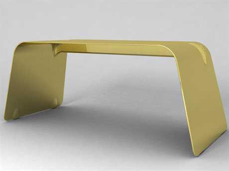 Orange22 Carbon 72''L x  32.5''D Rectangular Gold Re-Entry Office Desk