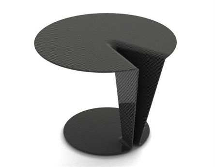 Orange22 Carbon 24'' Round Carbon Fiber Orbit Side Table