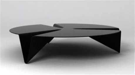 Orange22 Carbon 50'' Round Black Low Gravity Coffee Table