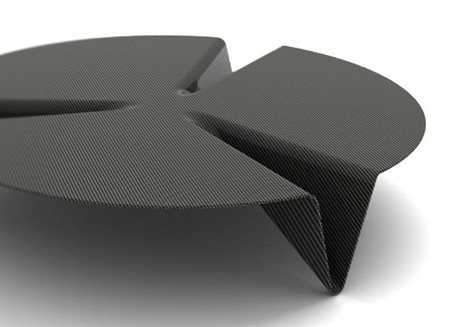 Orange22 Carbon 50'' Round Carbon Fiber Low Gravity Coffee Table