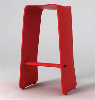 Orange22 Carbon Red Slip Bar Stool