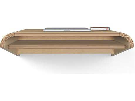 Orange22 Minimal Rift Oak 36''L x 16''D Rectangular Small  Wall Mounted Accent Desk with Pull-Out Drawer