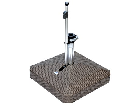 Oasis Rolling Bases 100lb Wicker Square Umbrella Base PatioLiving