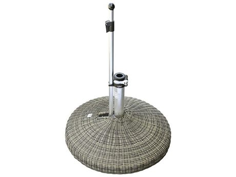 Oasis Rolling Bases 130lb Wicker Round Umbrella Base PatioLiving