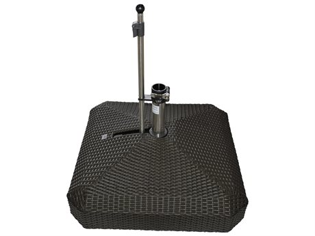 Oasis Rolling Bases 220lb Wicker Square Umbrella Base PatioLiving