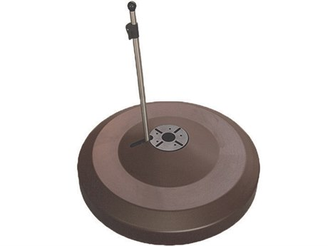 Oasis Rolling Bases 330lb Zinc Plated Round Umbrella Base PatioLiving