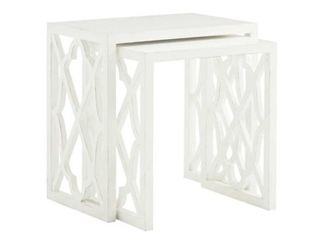 Tommy Bahama Ivory Key 24 x 16 Rectangular Stovell Ferry Nesting Tables (OPEN BOX)