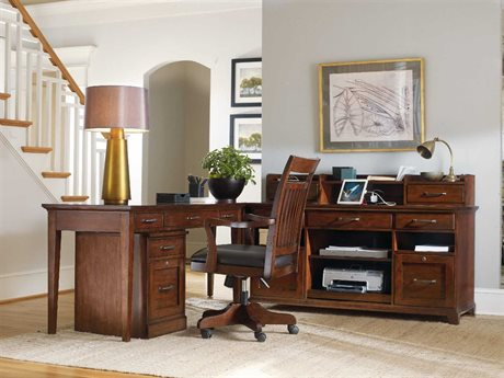 Hooker Furniture Wendover Distressed Cherry 60''L x 24''W Rectangular Writing Desk (OPEN BOX)