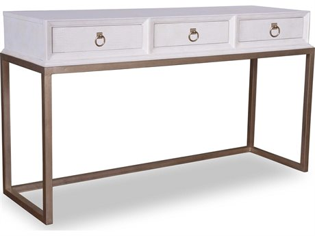 A.R.T. Furniture Cosmopolitan White with Bronze 60''L x 20''W Rectangular Console Table (OPEN BOX)