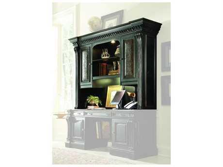 Hooker Furniture Telluride Black with Reddish Brown Computer Credenza Hutch (OPEN BOX)