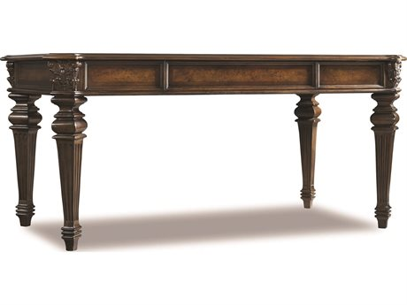 Hooker Furniture European Renaissance II Dark Rich Brown 66''L x 37''W Rectangular Writing Desk (OPEN BOX)