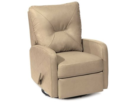 Palliser Theo Tulsa II - Jet Leather Swivel Rocker Recliner Chair