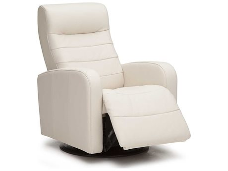 Palliser Riding Mountain Tulsa II - Lemon - Protected Leather Upholstery Swivel Glider Recliner Chair (OPEN BOX)