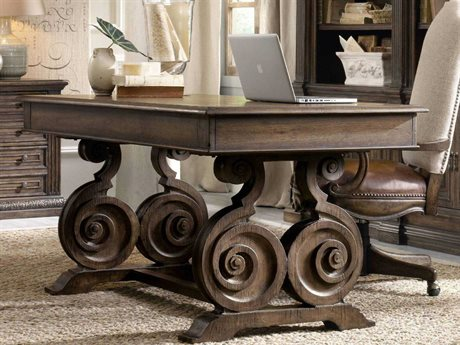 Hooker Furniture Rhapsody Rustic Walnut 66''L x 34''W Rectangular Writing Desk (OPEN BOX)