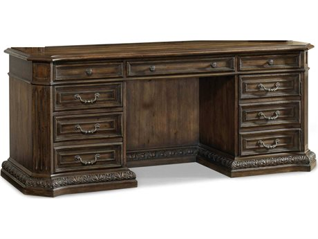 Hooker Furniture Rhapsody Rustic Walnut 75''L x 25''W Rectangular Computer Credenza Desk (OPEN BOX)