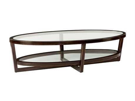 Bernhardt Zola Molasses 63''L x 28''W Oval Coffee Table (OPEN BOX)