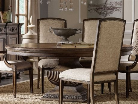 Hooker Furniture Rhapsody Rustic Walnut 72'' Wide Round Dining Table (OPEN BOX)