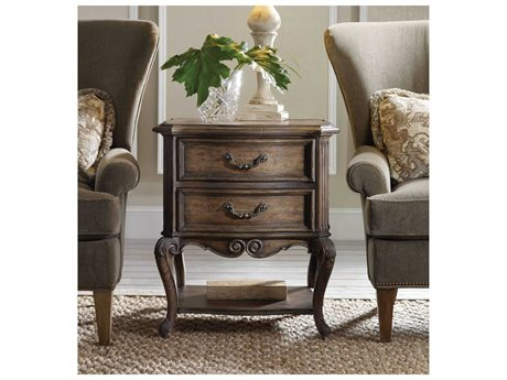 Hooker Furniture Rhapsody Walnut Rustic 26''L x 22''W Rectangular Accent End Table (OPEN BOX)