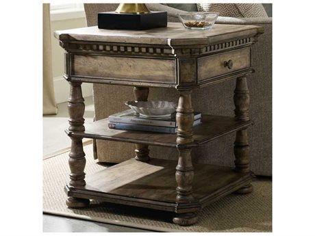 Hooker Furniture Sorella Taupe 28'' Wide Square End Table (OPEN BOX)