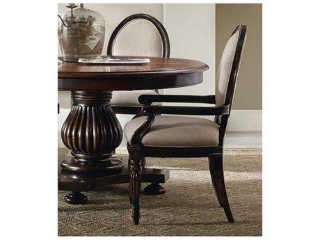 Hooker Furniture Eastridge Oval Back Dark Wood Dining Arm Chair (OPEN BOX)