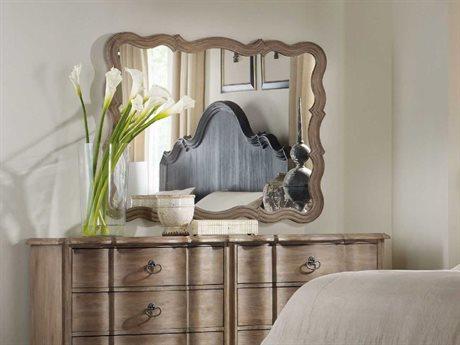 Hooker Furniture Corsica Light Wood 37''W x 47''H Rectangular Landscape Wall Mirror (OPEN BOX)