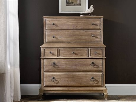 Hooker Furniture Corsica Light Wood 43''W x 21''D Rectangular Chest of Drawers (OPEN BOX)