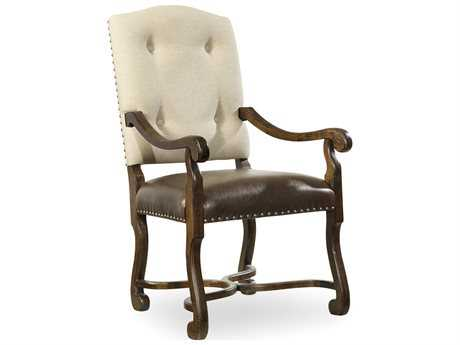 Hooker Furniture Treviso Camelback Rich Tobacco Dining Arm Chair (OPEN BOX)