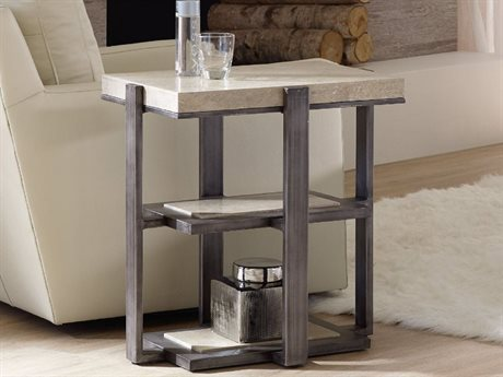 Hooker Furniture Gray 18''L x 24''W Rectangular Chairside End Table (OPEN BOX)