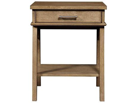 Stone & Leigh Chelsea Square French Toast 20''L x 18''W Rectangular Bedside Table (OPEN BOX)