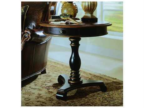 Hooker Furniture Preston Ridge Black 30'' Wide Round Pedestal Table (OPEN BOX)