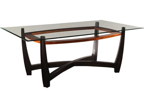Bassett Mirror Thoroughly Modern Elation 44''L x 76''W Rectangular Copper Dining Table (OPEN BOX)