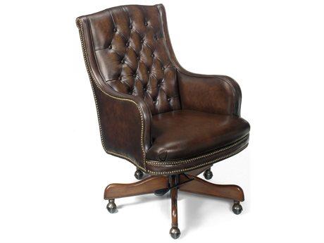 Hooker Furniture James River Manchester Dark Wood Executive Swivel Tilt Chair (OPEN BOX)
