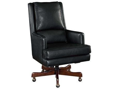 Hooker Furniture Carilion Tune Dark Wood Executive Swivel Chair (OPEN BOX)