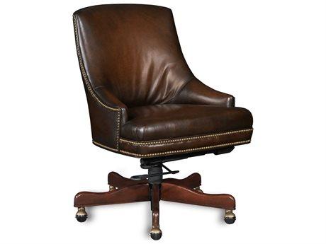 Hooker Furniture Sarzana Fortess Dark Wood Executive Swivel Chair (OPEN BOX)