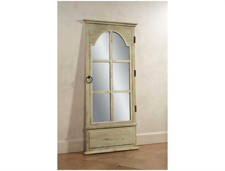 Bassett Mirror Belgian Modern 35 x 77 Tarragon French Door Leaner Mirror (OPEN BOX)