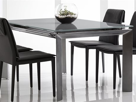 Bellini Rado Grey 81''L x 39''W Rectangular Dining Table with Extension (OPEN BOX)