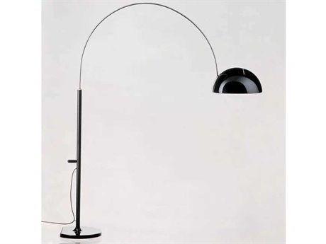 Oluce Coupe Black Floor Lamp