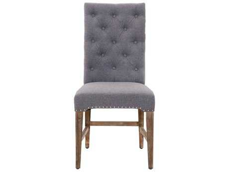 Orient Express Furniture Traditions Set of 2 Wilshire Heather Gray Dining Chairs