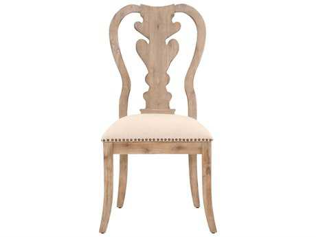 Orient Express Furniture Traditions Set of 2 Lotus Stone Wash Dining Chairs