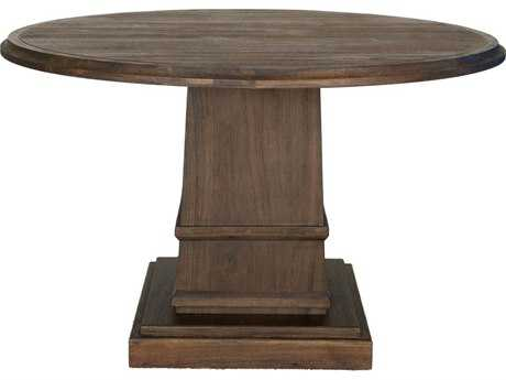 Orient Furniture Express Traditions 54'' Round Hudson Rustic Java Dining Table