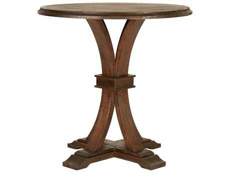 Orient Express Furniture Devon 42''L x 42''W Rustic Java Bar Height Dining Table