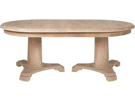Orient Express Furniture Belmont 76''L x 46''W Stone Wash Extension Dining Table