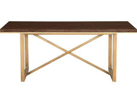 Orient Express Furniture Mosaic 86.5''L x 39.5''W Rustic Java Dining Table