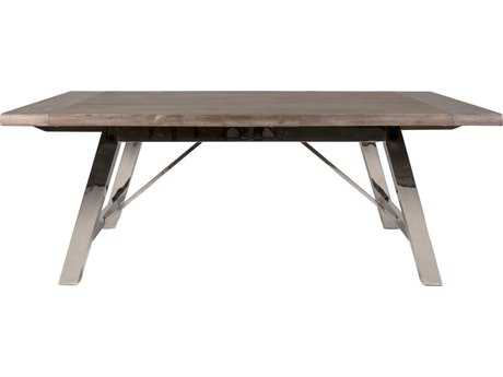 Orient Express Furniture Grayson 81''L x 41.5''W Gray Wash Extension Dining Table