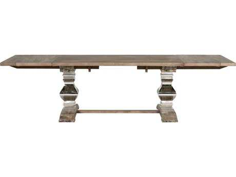 Orient Express Furniture Manor 82''L x 42''W Gray Wash Extension Dining Table