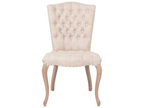 Orient Express Furniture Essentials Set of 2 Henri Bisque French Linen Dining Chairs