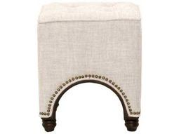 Orient Express Furniture Drake Bisque French Linen Footstool